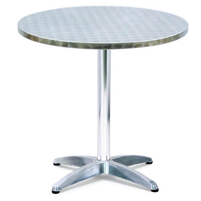 tavolo rotondo in alluminio modello bar 70xh75 cm peso