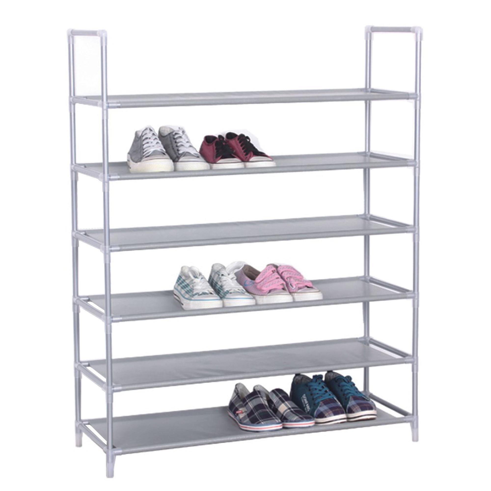 Portascarpe scaffale a 6 piani 85x30xh103 cm colore grigio for 6 piani