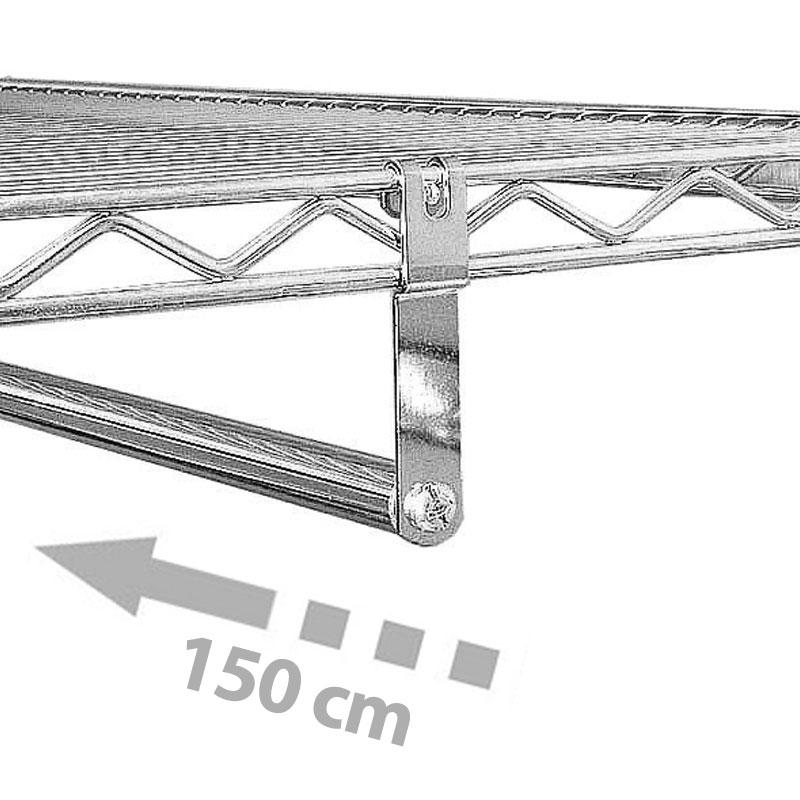 Barra Appendiabiti.Barra Appendiabiti 150cm Archimede System Archimede System
