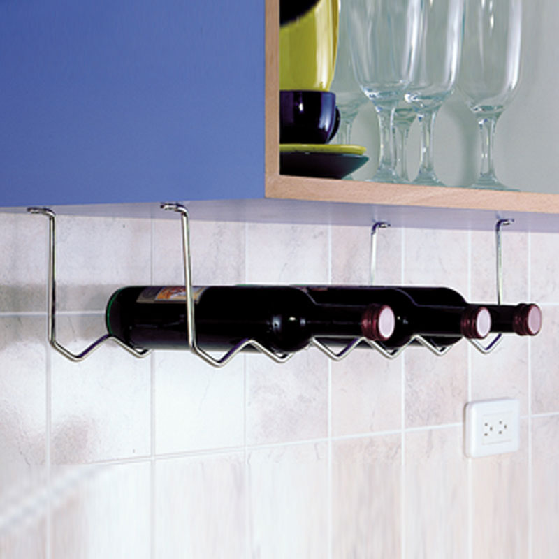 Porta bottiglie sottopensile archimede system stilcasa net porta bottiglie da vino - Porta bottiglie ...