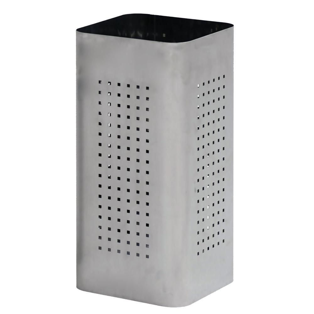 Cestino Q Bin in acciaio inox AISI430 spazzolato 25x25xh50 cm con foro quadrato