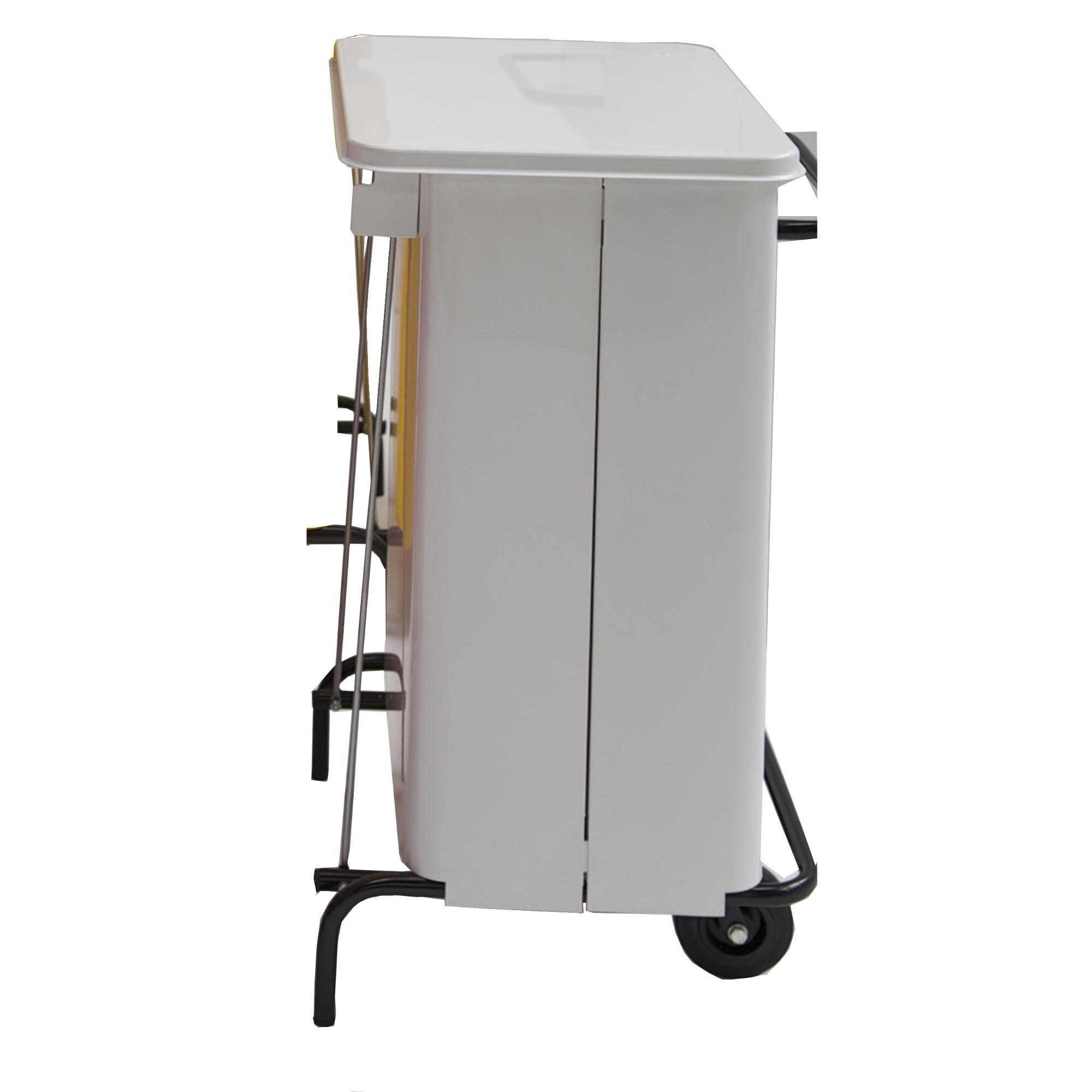 Pattumiera con ruote rettangola midi 48x46xh 76 litri 70 colore bianco graepel spa - Casa midi cucine prezzi ...