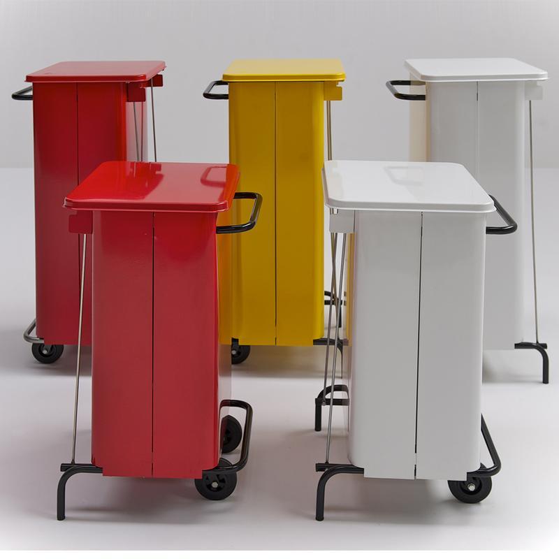 Pattumiera con ruote rettangola midi 48x46xh 76 litri 70 colore giallo graepel spa - Casa midi cucine prezzi ...