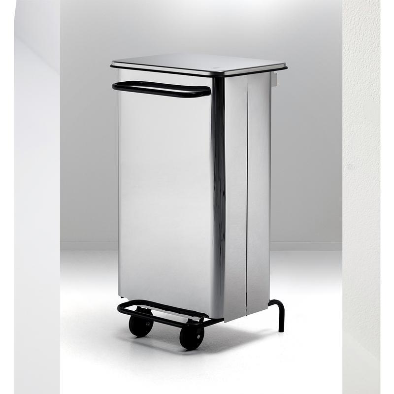 Pattumiera con ruote 48x46xh76 cm l70 rettangola midi in acciaio inox 18 10 graepel spa - Casa midi cucine prezzi ...