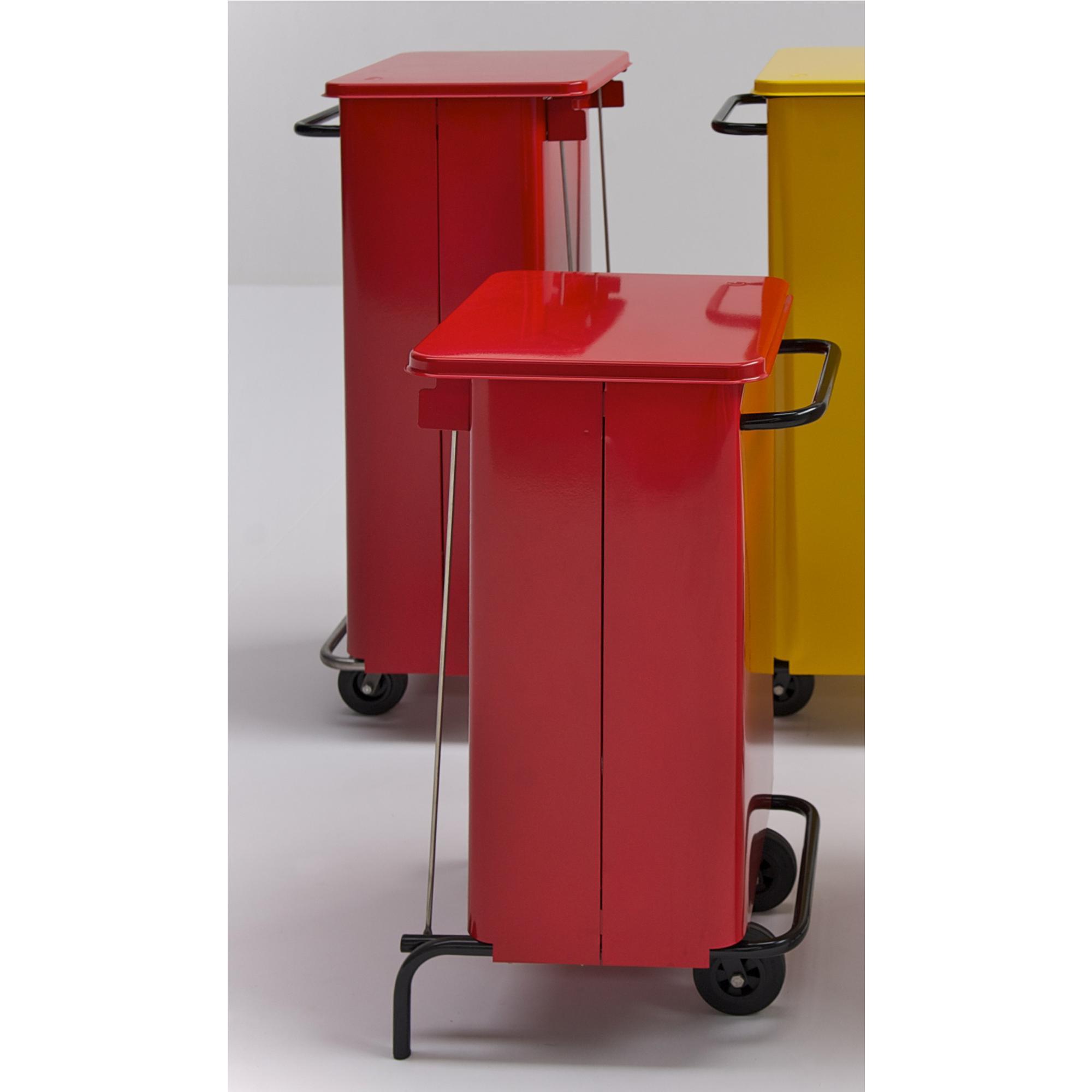 Pattumiera con ruote rettangola midi 48x46xh 76 litri 70 colore rosso graepel spa stilcasa - Casa midi cucine prezzi ...