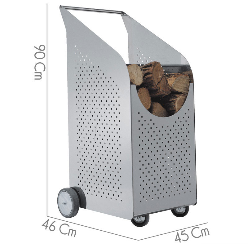 Portalegna legnaia 45x46xh90 cm baby w o w in acciaio for Carrello portalegna da arredamento