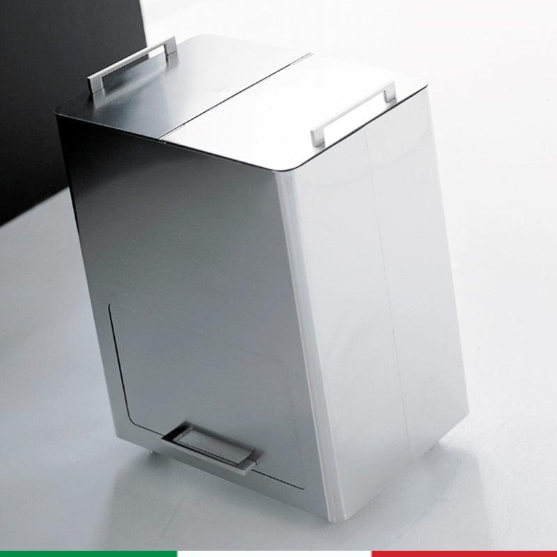 Bidone pattumiera 55x36xh69 cm l58 per la raccolta differenziata a due contenitori estraibili - Contenitori raccolta differenziata per casa ...