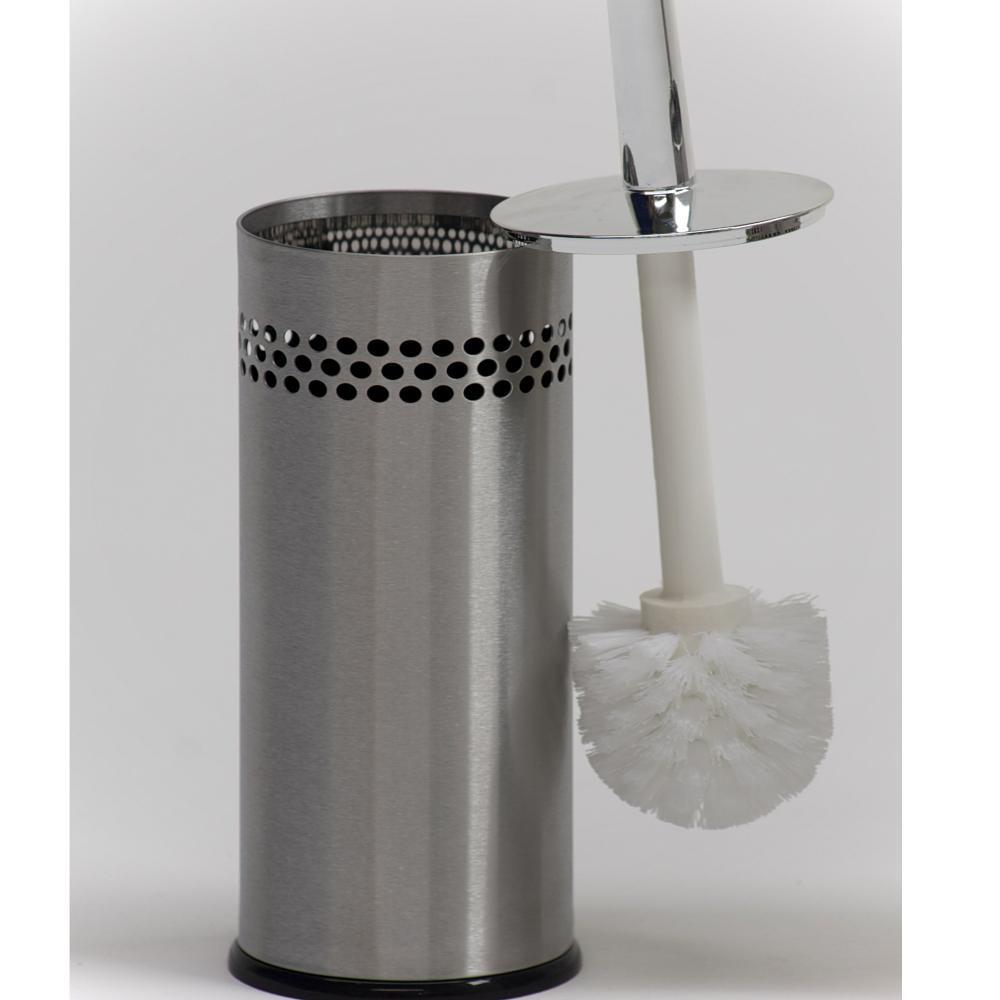Spazzolino da bagno acciaio inox aisi 430 9 x h 35 inox lucido graepel spa stilcasa net - Accessori bagno inox ...