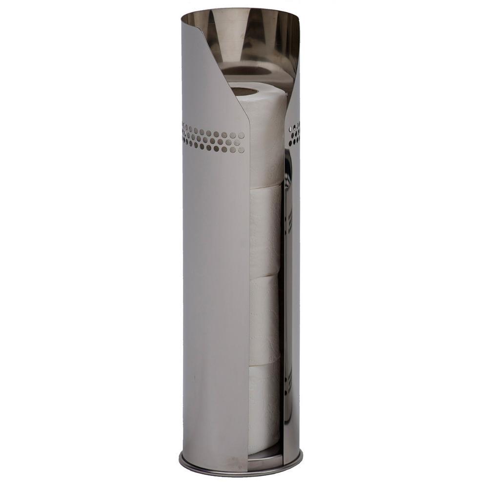 portarotoli da bagno acciaio inox aisi 430 13 x h 49 inox lucido