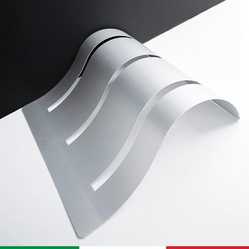 Portabici Bi Wave 120x100xh 30 Cm In Alluminio Anodizzato