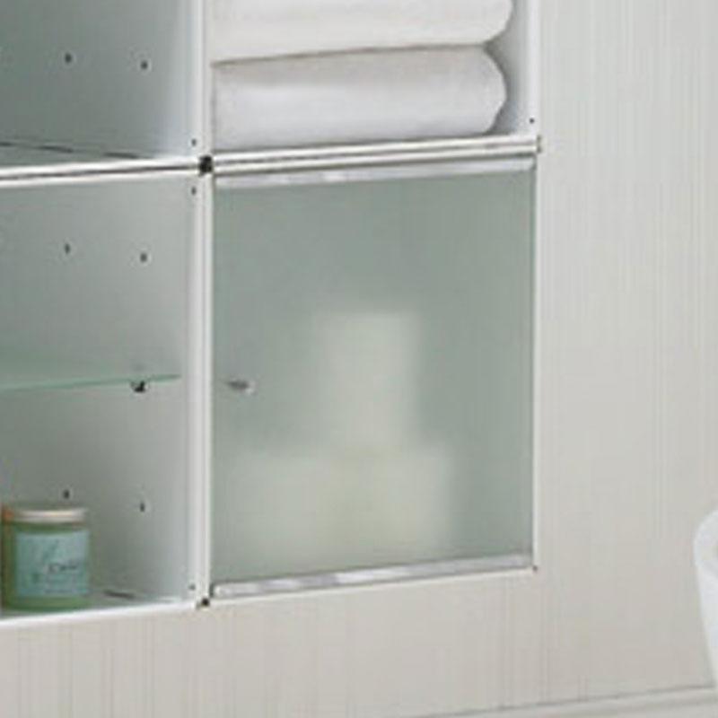 Composizione tre cubi sospesi sospesa 3 cubi con anta e - Mobiletti in vetro ...