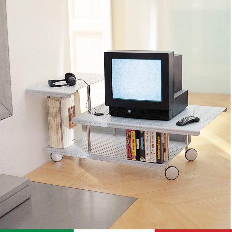 Carrello porta tv hi fi r o m 57x10 xh47 cm graepel spa stilcasa net supporti e mobili tv - Carrello porta tv meliconi ...