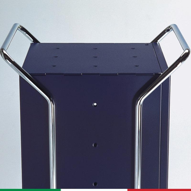 Carrello da bagno cassettiera 39x45xh94 cm con telaio in acciaio ...