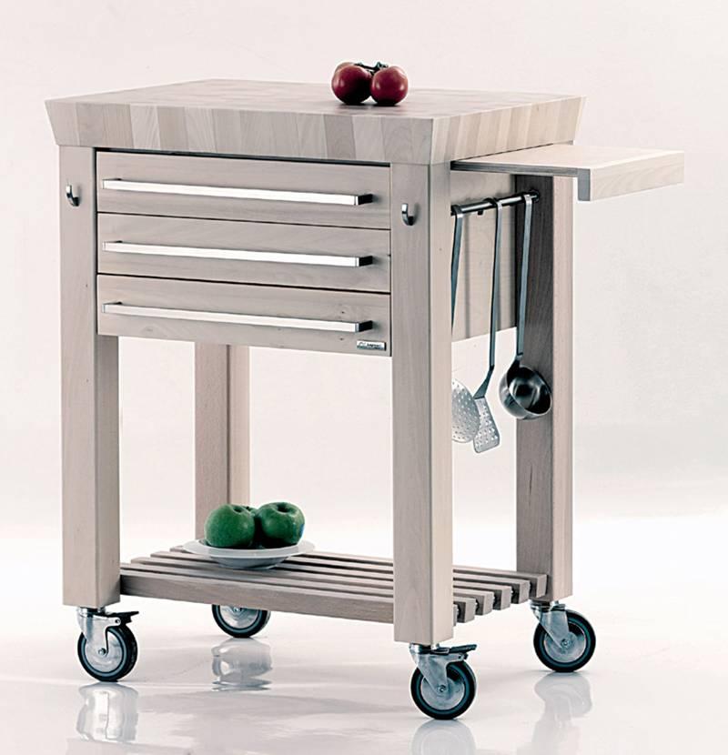 Carrello cucina domus legnoart stilcasa net - Carrello in legno da cucina ...