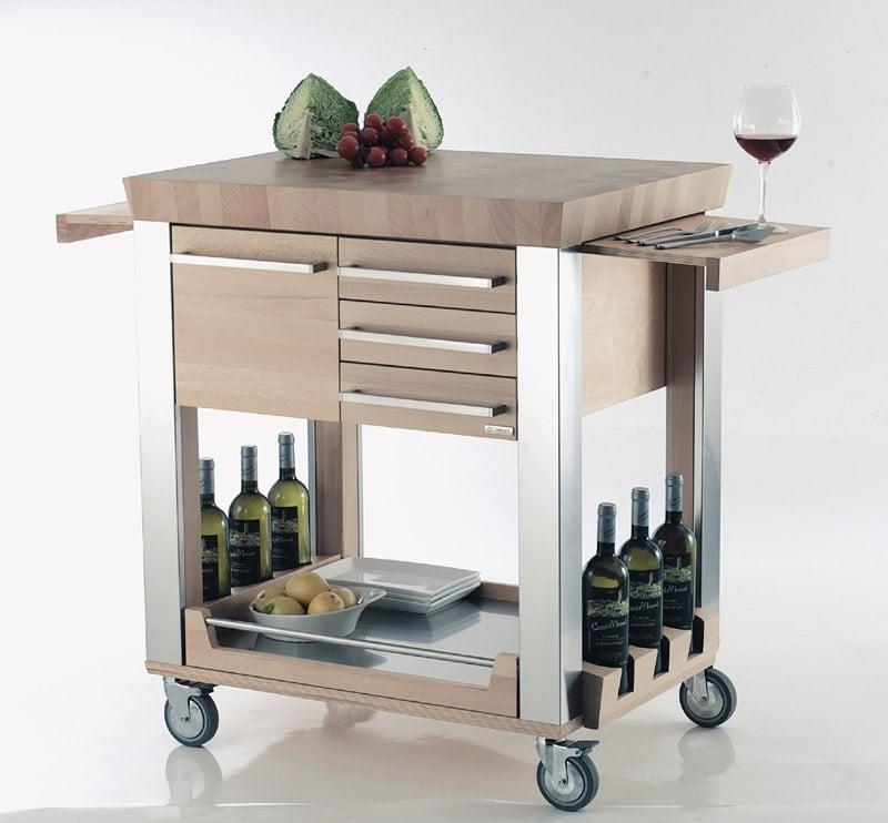 Carrello cucina astoria legnoart stilcasa net for Carrello cucina design