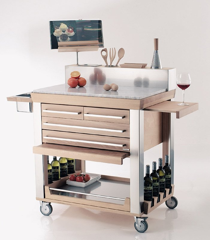 Carrello cucina millenium legnoart stilcasa net carrelli da portata - Carrelli x cucina ...
