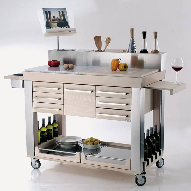 Carrello da cucina Platinum | Legnoart | Stilcasa.Net: carrelli da ...