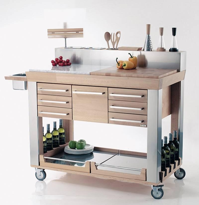 Carrello da cucina Platinum  Legnoart  Stilcasa.Net: carrelli da ...