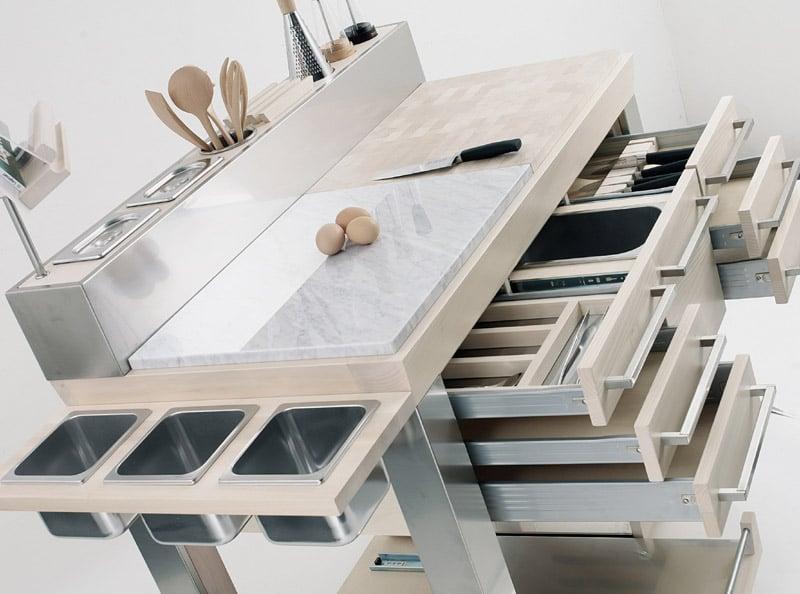 Carrello da cucina platinum legnoart stilcasa net for Carrello portalegna da arredamento