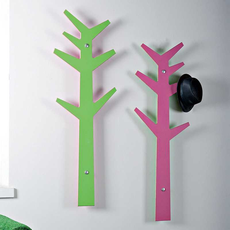 Porta abiti appendiabiti albero edward fucsia fissaggio a for Appendiabiti albero