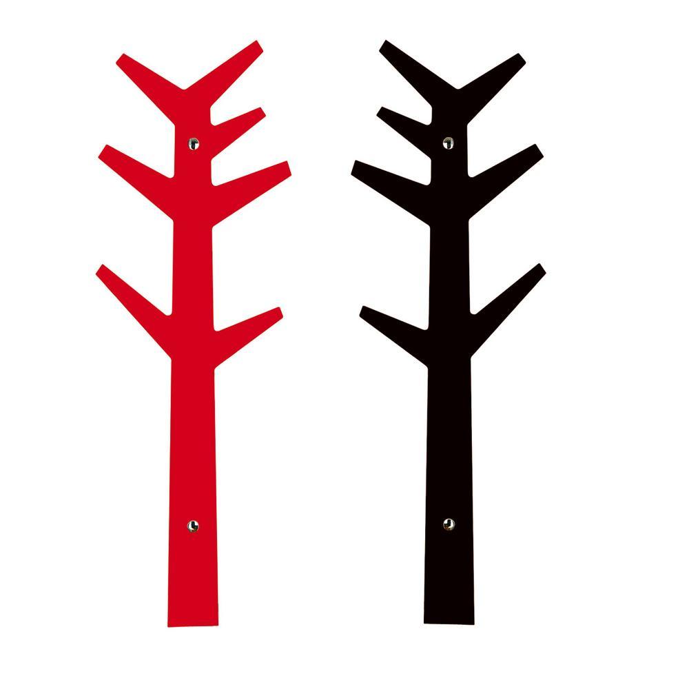 Appendiabiti A Muro Albero.Porta Abiti Appendiabiti Albero Edward Red Black Fissaggio A Muro Creativando