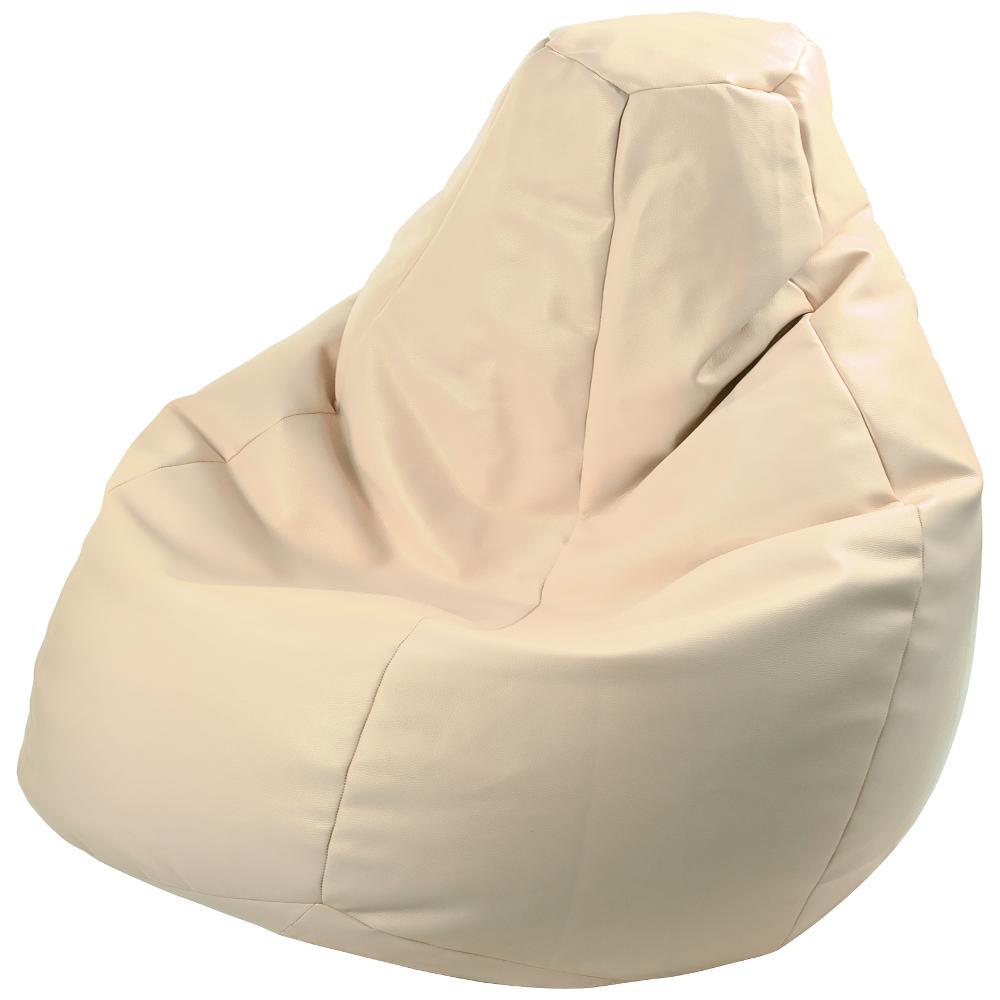 Poltrona a sacco lolita ecopelle colore beige polistirolo for Poltrona polistirolo