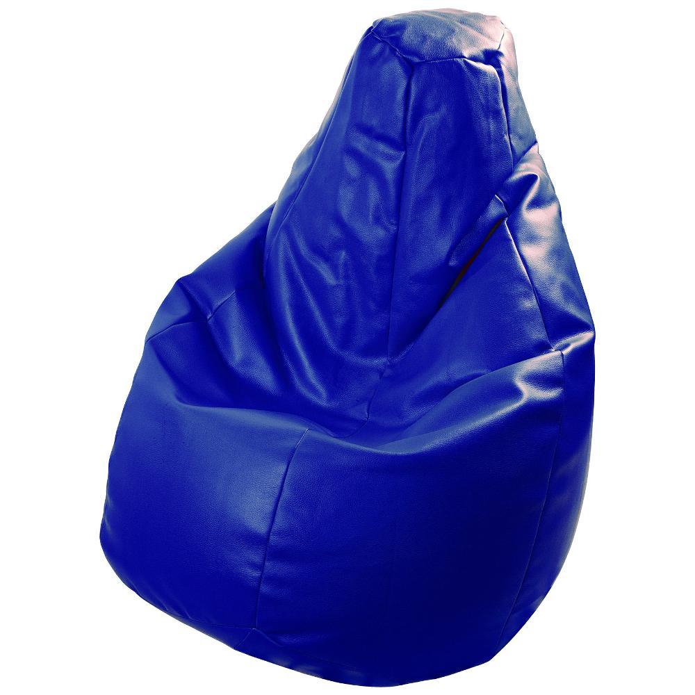 Poltrona a sacco Lolita Ecopelle Colore BLUE polistirolo non incluso  Creati...