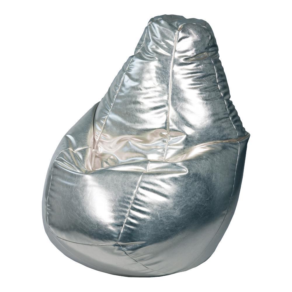 Poltrona a sacco lolita ecopelle colore silver polistirolo for Poltrona polistirolo