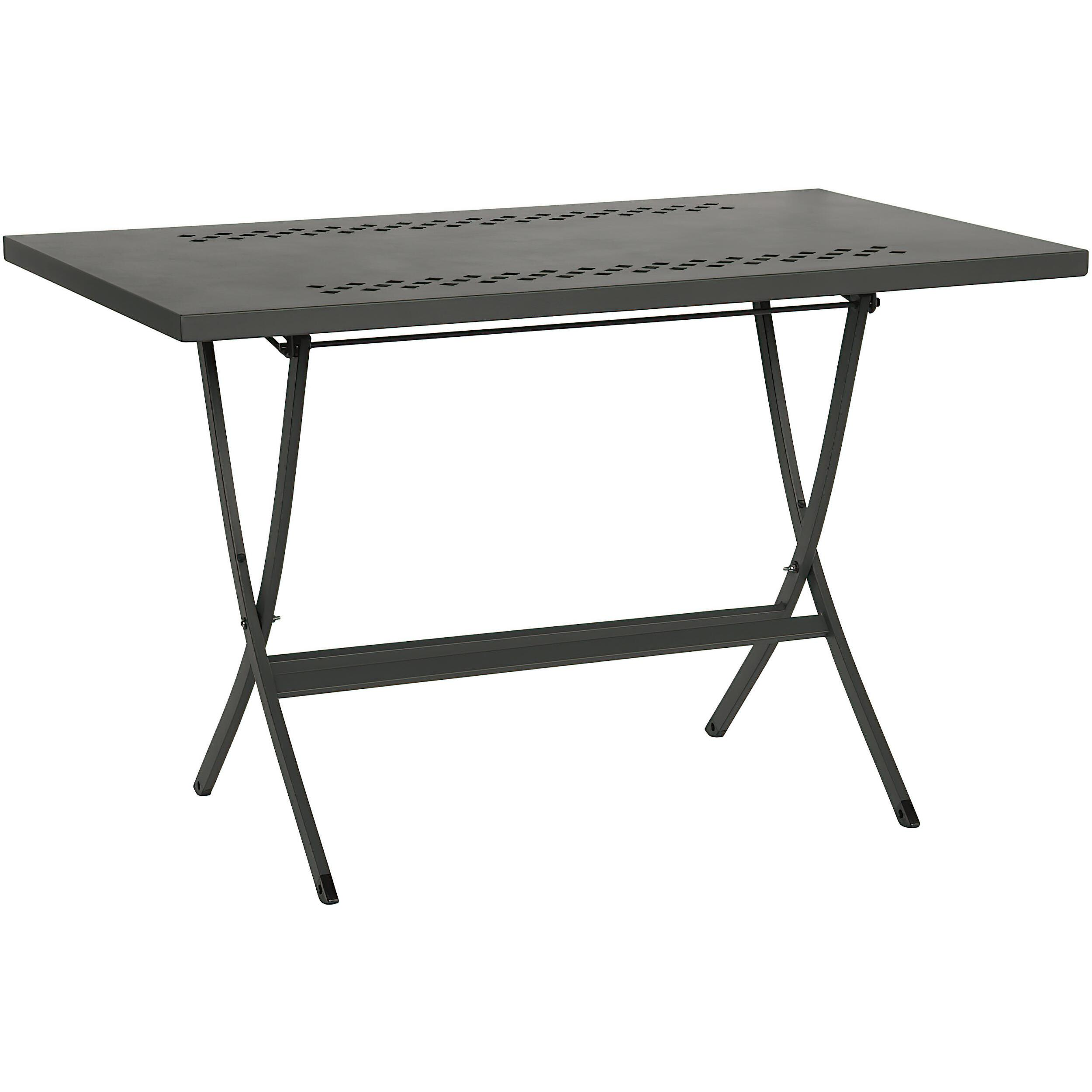 Tavolo Da Giardino richiudibile Hermes 80 Dimensioni 80x80xh75 cm Peso 12 kg struttura in acciaio con pia