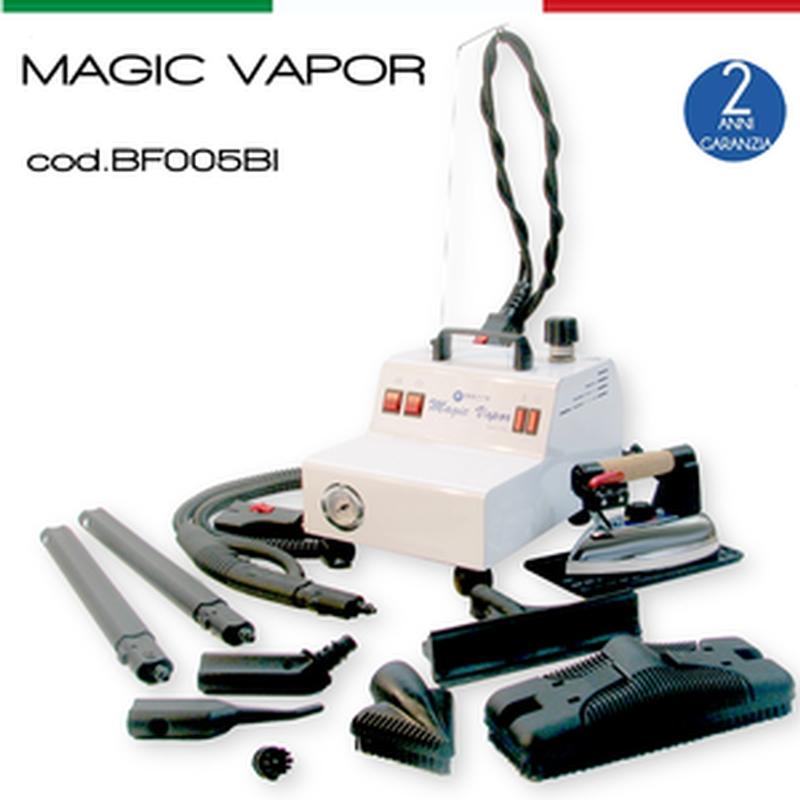Ferro da Stiro con per lo stiro e la pulizia di vetri pavimenti. bagni Magic manometro ed attacco rapido
