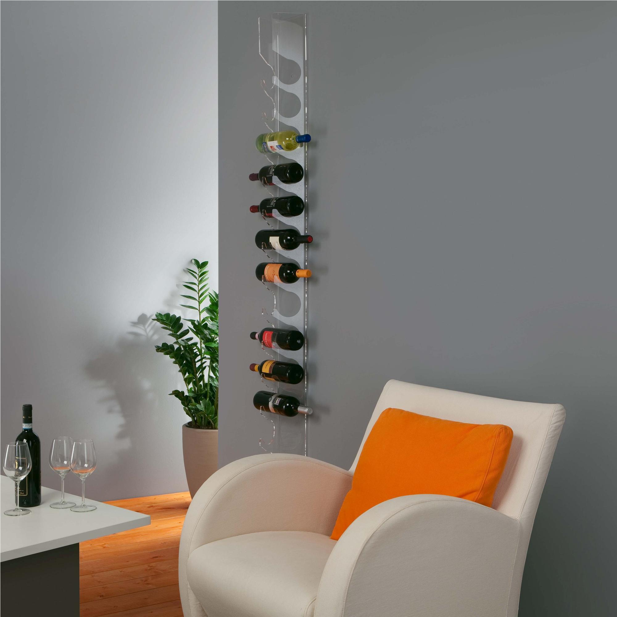 Portavino da parete cm 13 bottiglie r2 in - Porta vini da parete ...