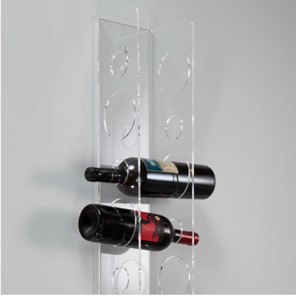 Portavino da parete 16 5x14xh125 cm 11 bottiglie eno big in plexiglas trasparente vesta - Porta vino da parete ...
