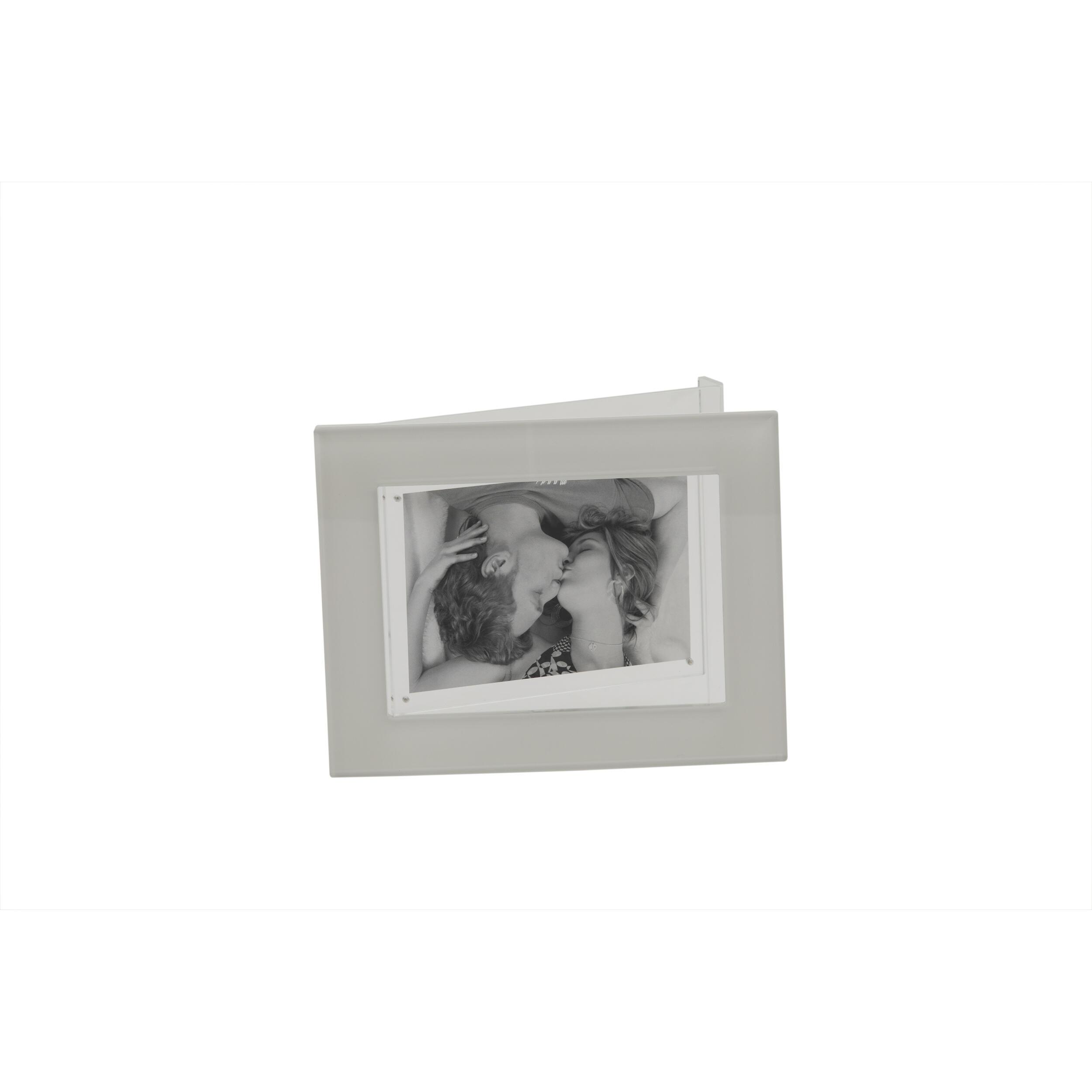 PORTA FOTO il plexiglas DORIDE dimensioni 17,5x8xh22,5 cm per foto 10x15 cm colore BIANCO