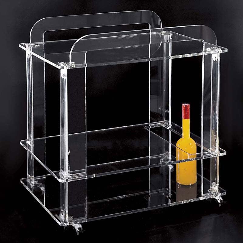 Carrello portavivande plexiglass su stilcasa net for Carrello portalegna da arredamento