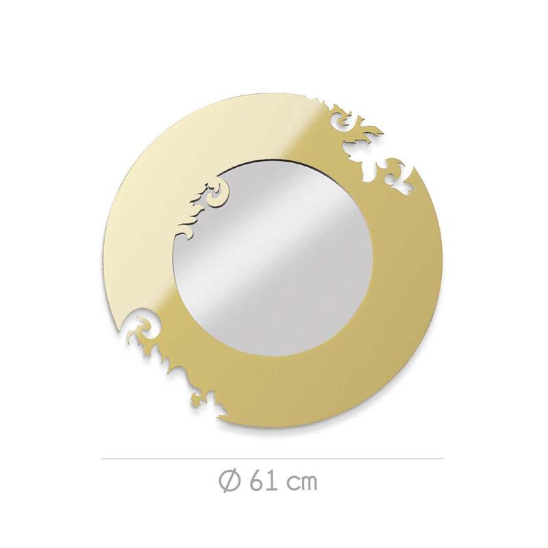 Specchio re sole diametro 61xh1 5 cm cornice in plexiglass - Specchio plexiglass prezzi ...