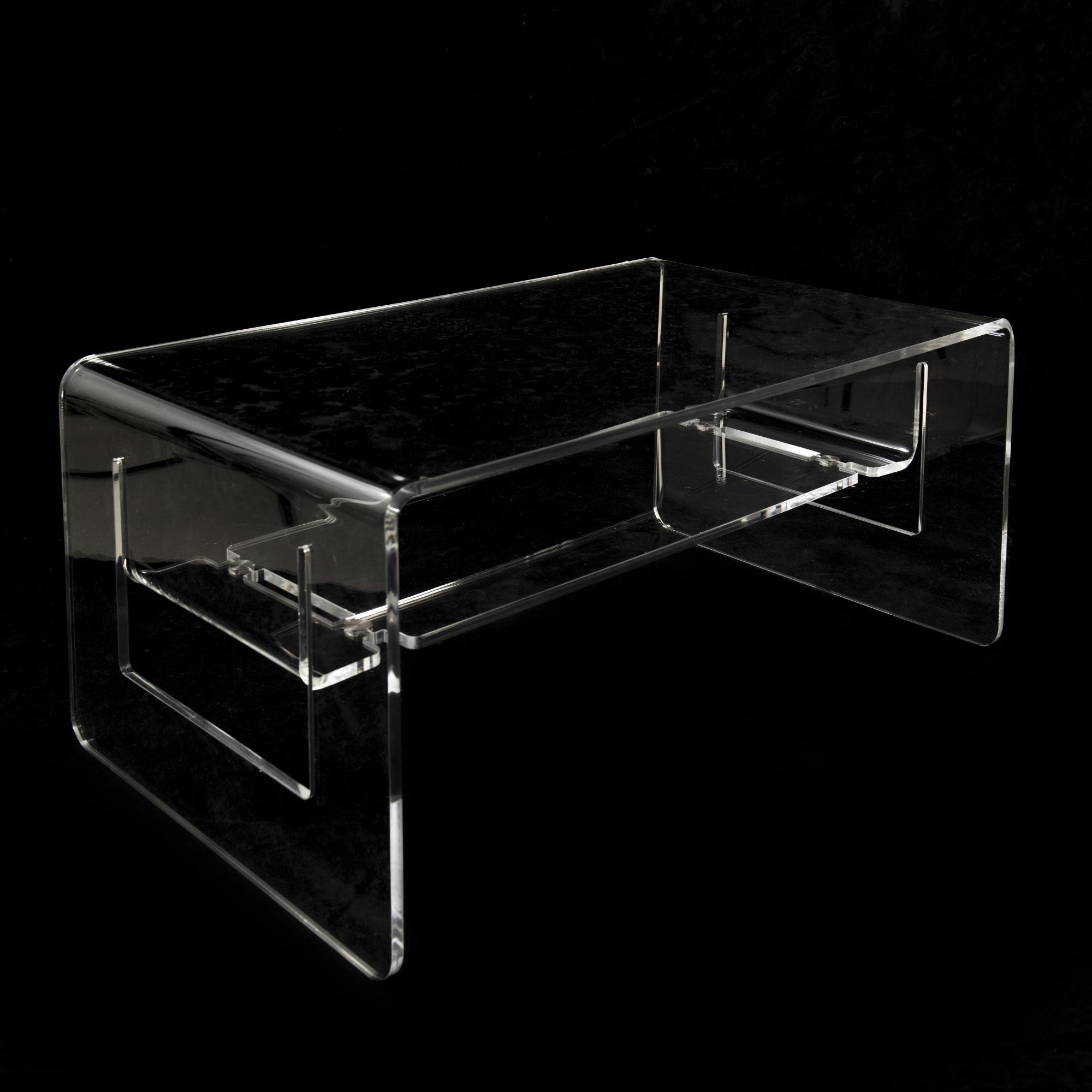 Tavolino da Salotto basso in plexi LINO 82x50xh37 cm spessore 10 ...