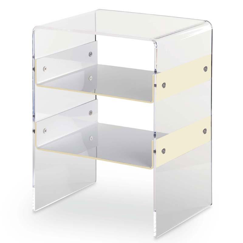 Comodino con 1 ripiano vega struttura in plexiglas 8 mm - Mobili in plexiglass ...