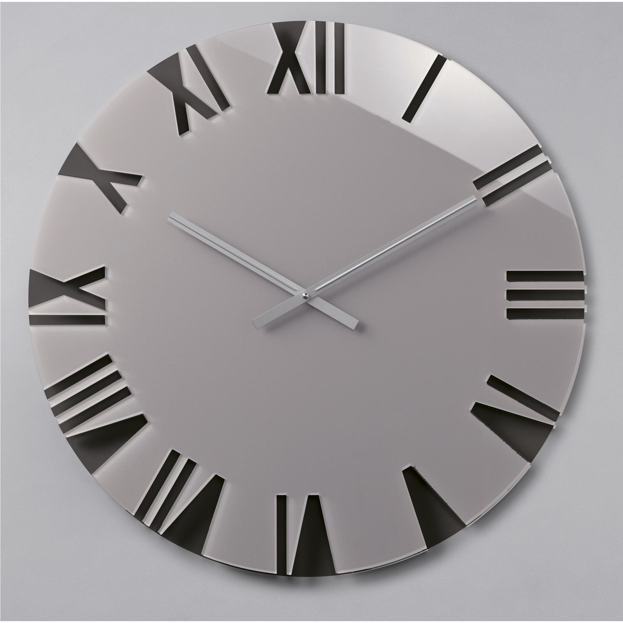 Orologio da parete movimento al quarzo ROMA Small Ø42x2,5 in plexigas bicolor...