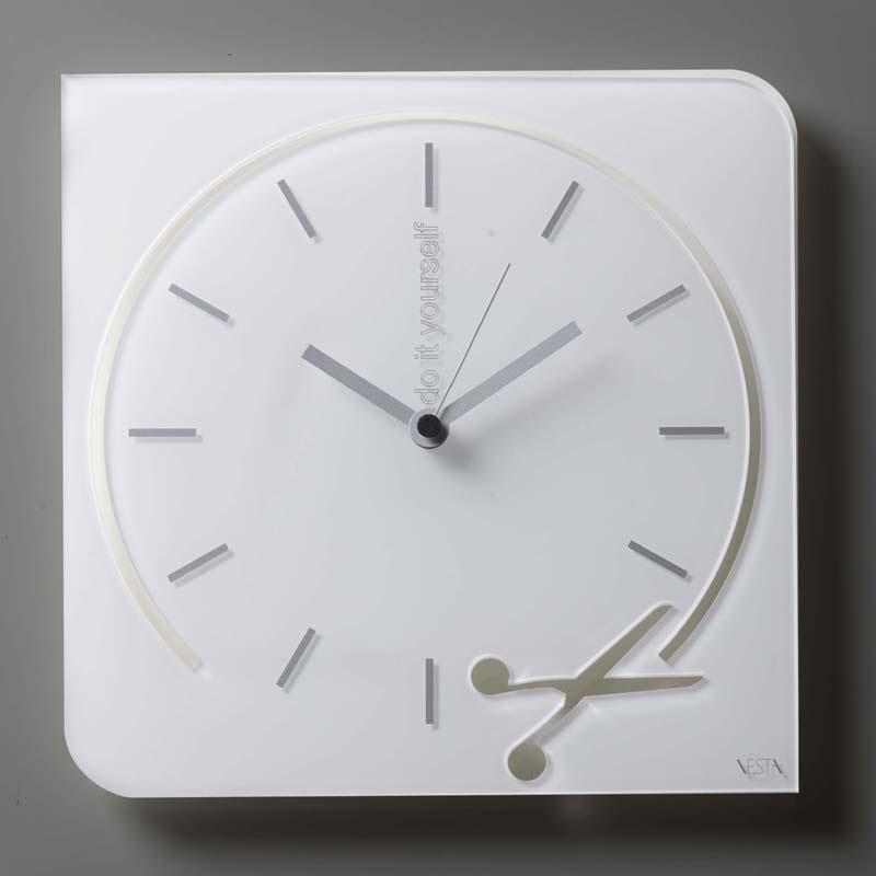Orologio da parete movimento al quarzo in plexigas bicolore Forbice  Vesta ...