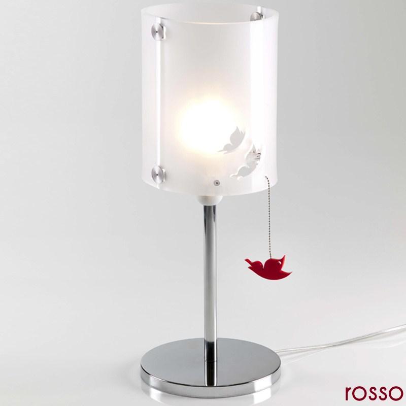 Lampada da tavolo butterfly in plexiglass monosatinato 17 - Lampade da tavolo in plexiglass ...