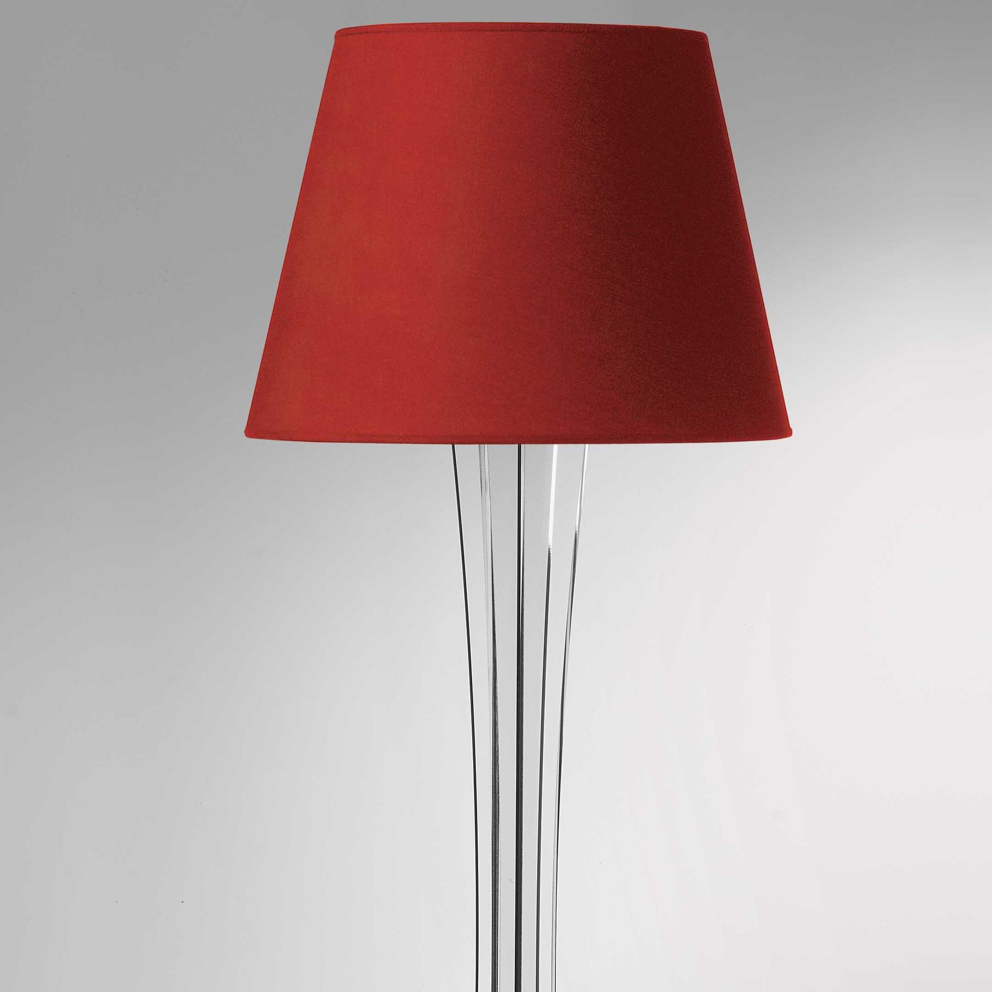 Lampada a Piantana SKY supporto in plexiglas paralume colore Rosso Ø40xh176 cm | Vesta