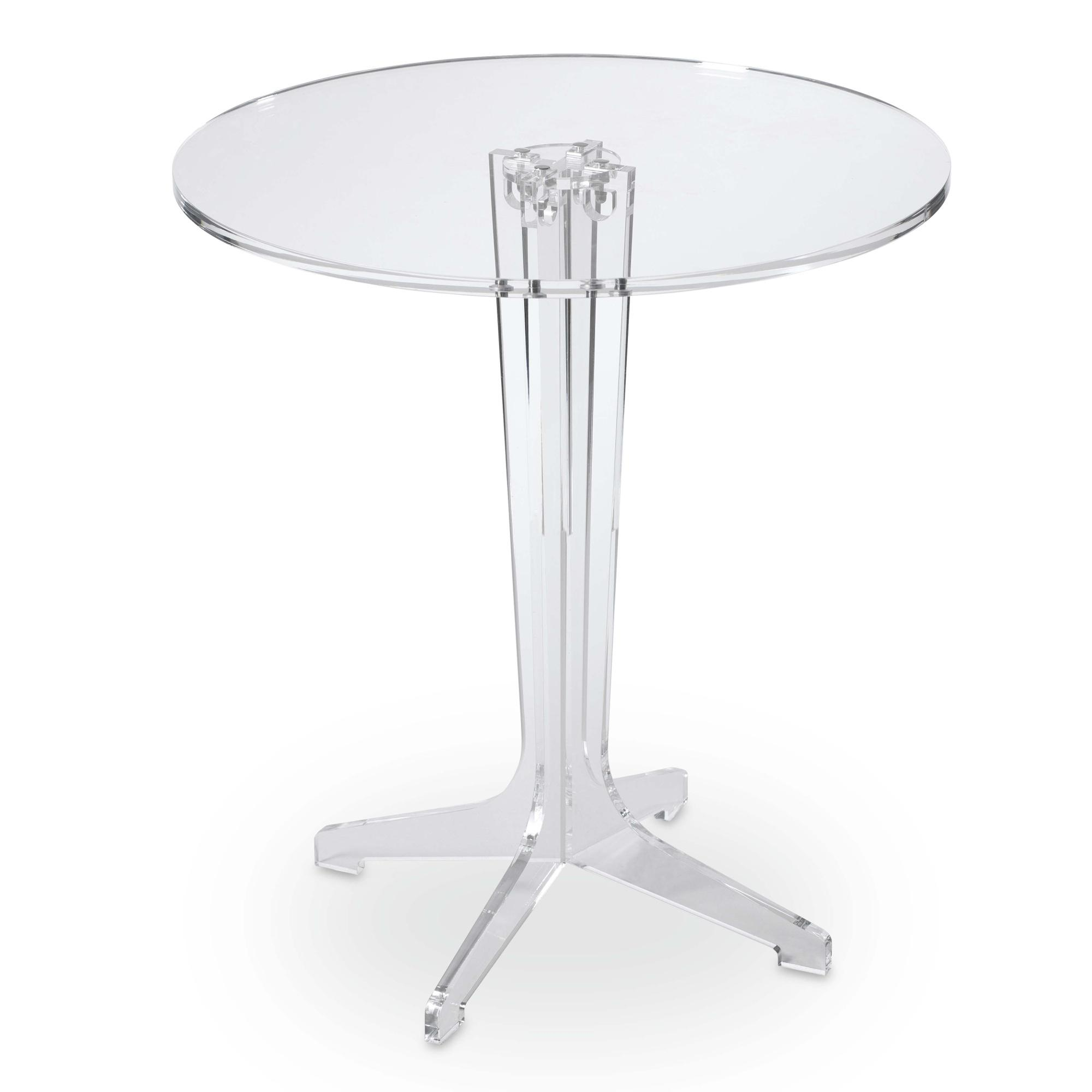 Tavolinetto rotondo diametro 50xh55 cm stanton in - Tavolini plexiglass ...