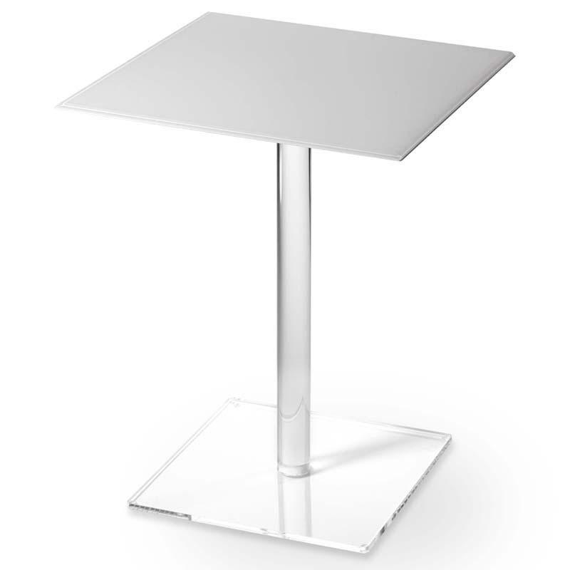 Tavolinetto quadrato 40x40xh50 cm square in plexiglas - Tavolini plexiglass ...