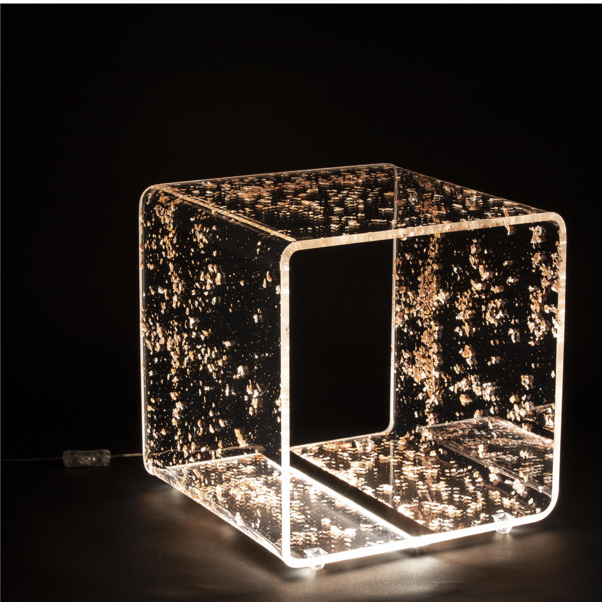 Comodino Lampada a LED Future Bronzo