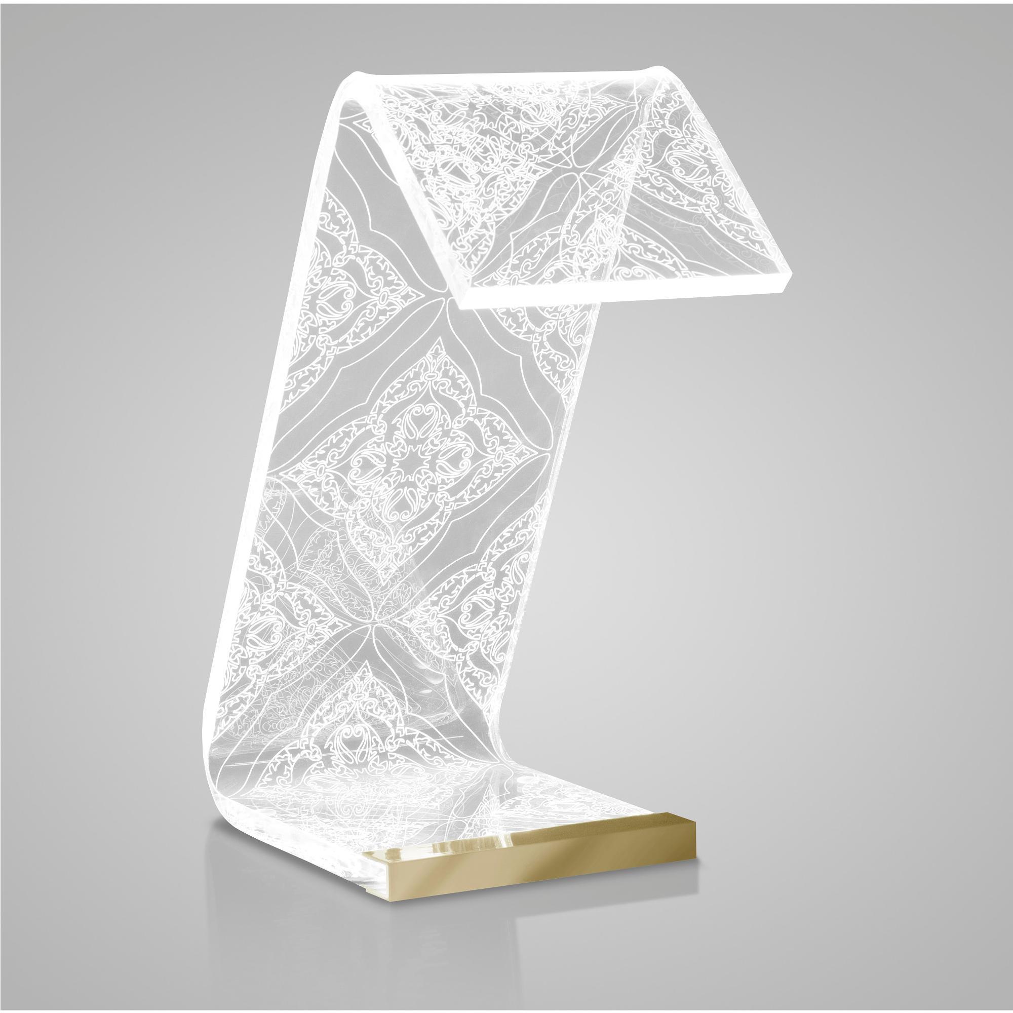 Lampada da tavolo c led 20x12x27h cm 2 w 24 volt luxury for Regalo tavolo milano