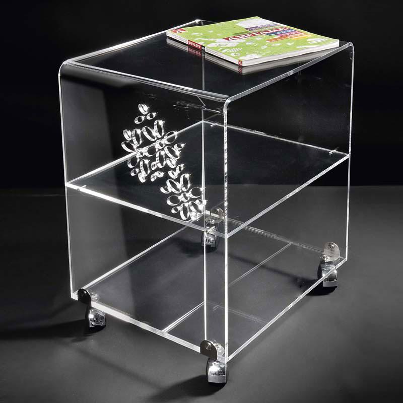 Carrello portavivande in plexi trasparente like water con for Plexiglass arredamento