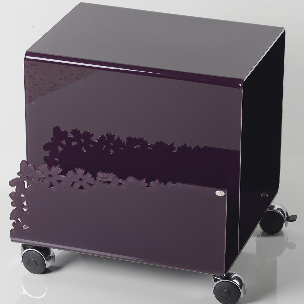 Tavolino Porta riviste portabottiglie BUTTERFLY 40x37.5xh40 in ...