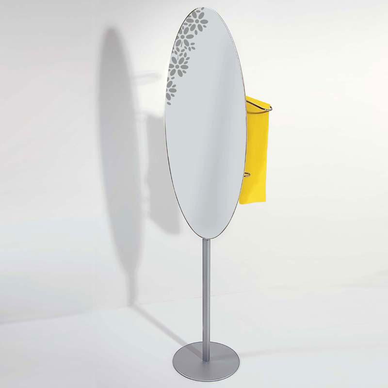 Servomuto appendiabiti specchio 46x30xh148 cm identity con - Serigrafia su specchio ...