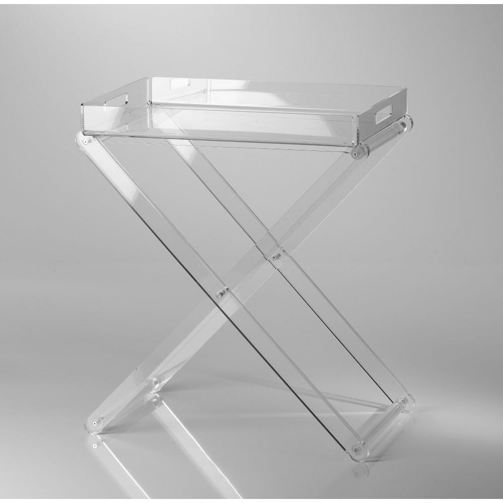 Pliant pieghevole con vassoio 47x30x56h in plexiglas - Tavolino plexiglass ...