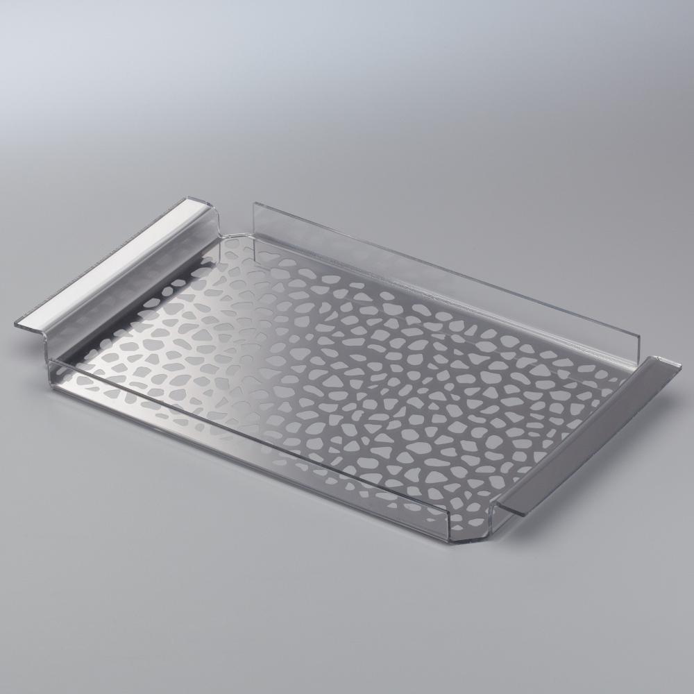 Vassoio da tavola in plexiglas 35x20 5xh2 5 cm con - Specchio plexiglass prezzi ...